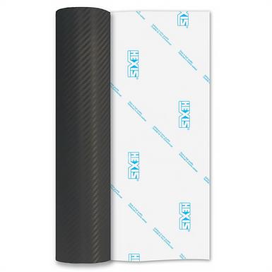 Black Carbon Fibre Premium Permanent Matt Self Adhesive Vinyl