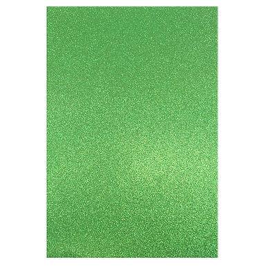 A4 Glitter Card Green