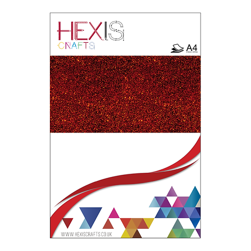 Red Glitter Heat Transfer Flex Sheet