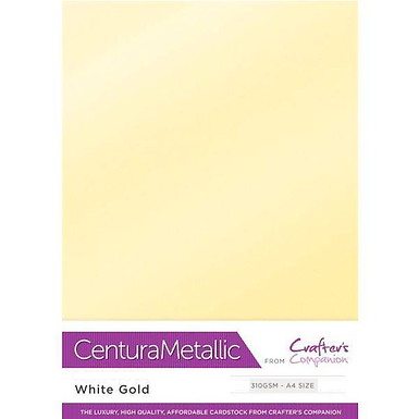 White Gold - Centura Pearl Metallic Card Crafter's Companion
