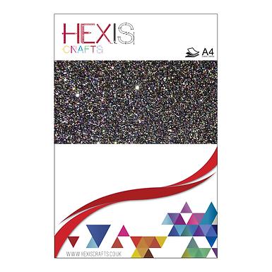 Multi Colour Glitter Heat Transfer Flex Sheets x 6