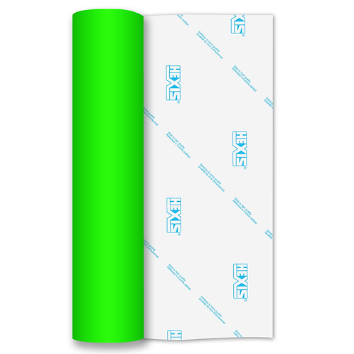 Green Neon Gloss Self Adhesive Vinyl Roll 610mm x 1m