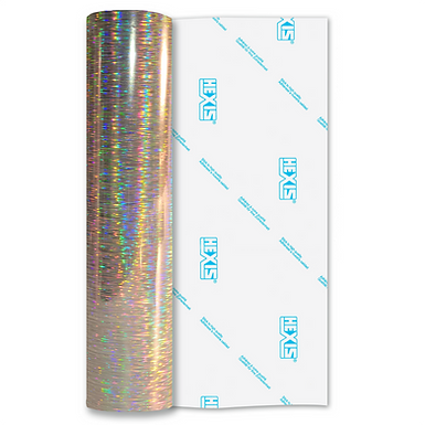 Silver Rain Double Sided Holographic Gloss Self Adhesive Vinyl