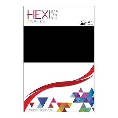 Black Flock Heat Transfer Flex Sheets x 6
