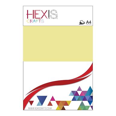 Pastel Yellow Heat Transfer Flex Sheets x 6
