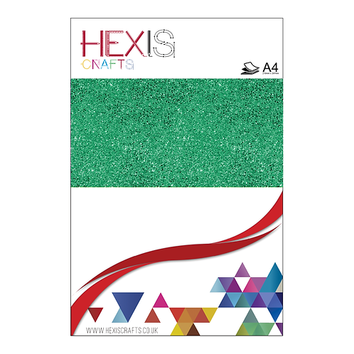 Light Green Glitter Heat Transfer Flex Sheet
