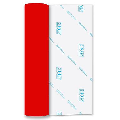 Neon Red Heat Transfer Flock 500mm Wide x 1m Long