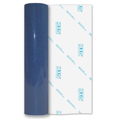 Blue Transparent Glitter Self Adhesive Vinyl