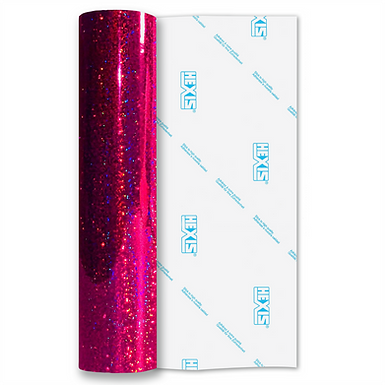 Pink Sequin Gloss Self Adhesive Vinyl