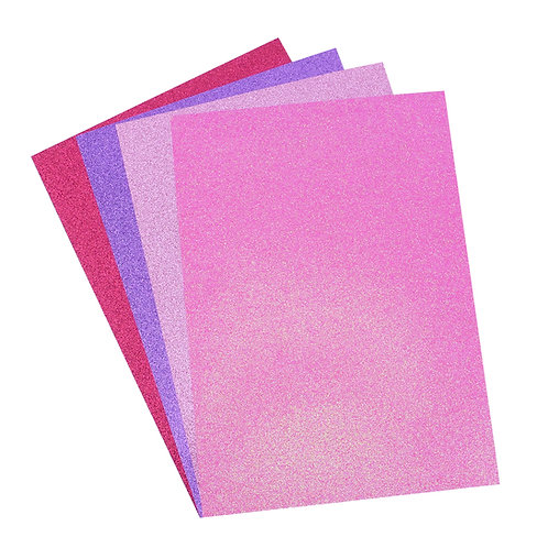 A4 Glitter Card Perfectly Pink Pack