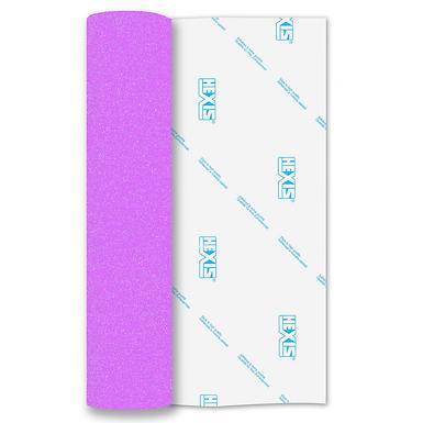 Neon Purple Glitter Mix Heat Transfer Flex 140mm Wide x 500mm Long