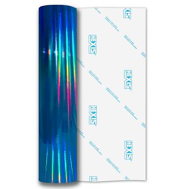 Sky Blue Rainbow Chrome Self Adhesive Vinyl