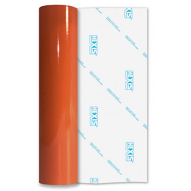 Bright Orange Premium Permanent Gloss Self Adhesive Vinyl