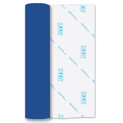 Blue Heat Transfer Flock 250mm Wide x 500mm Long