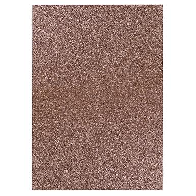 A4 Glitter Card Dark Rose Gold