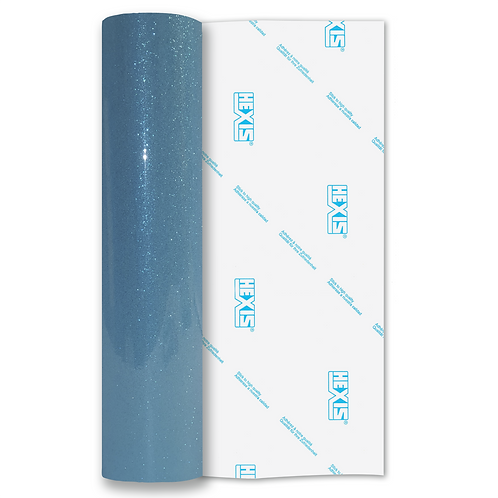 Sky Blue Transparent Glitter Self Adhesive Vinyl
