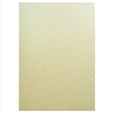 A4 Glitter Card Pastel Yellow