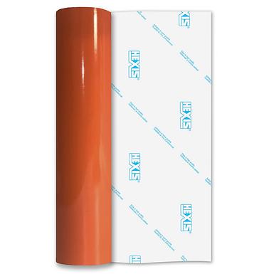 Orange PVC FREE Permanent Gloss Self Adhesive Vinyl