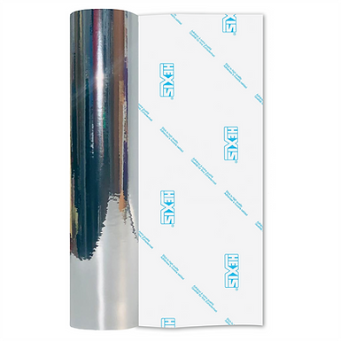Silver Double Sided Mirror Chrome Self Adhesive Vinyl