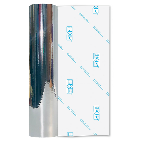 Silver Mirror Chrome Self Adhesive Vinyl