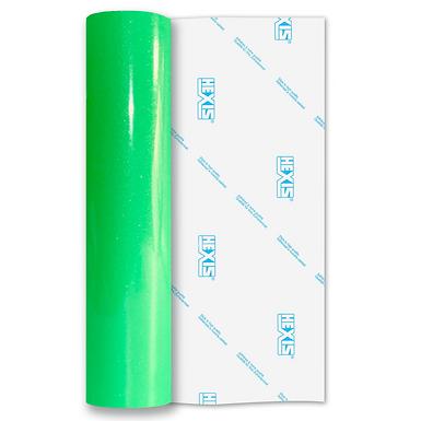 Ultra Glitter Fluorescent Green Gloss Self Adhesive Vinyl