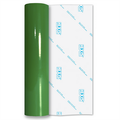 Water Lily Green Standard Permanent Gloss Self Adhesive Vinyl