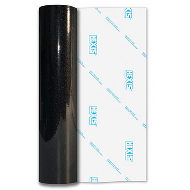 Ebony Black Sparkle HEX'Press Gloss Self Adhesive Vinyl