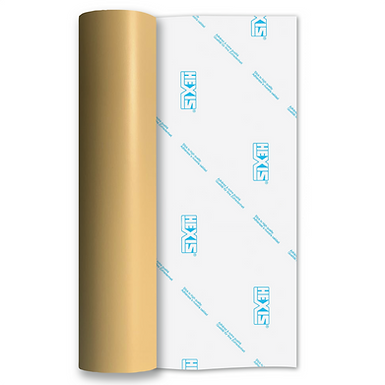 Beige Standard Removable Matt Self Adhesive Vinyl