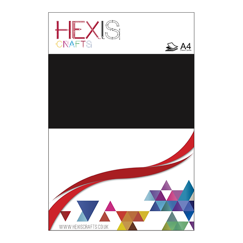 Black Heat Transfer Flex Sheets x 6
