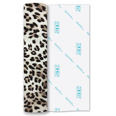 Leopard Print Heat Transfer Flex 140mm Wide x 500mm Long