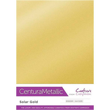 Solar Gold - Centura Pearl Metallic Card Crafter's Companion