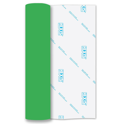 Neon Green Heat Transfer Flock 140mm Wide x 500mm Long