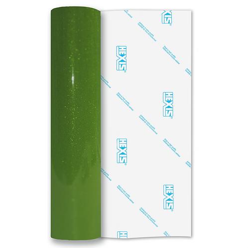Green Transparent Glitter Self Adhesive Vinyl