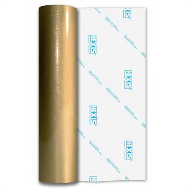 Zeus Gold Sparkle HEX'Press Gloss Self Adhesive Vinyl