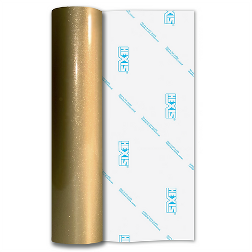 Zeus Gold Sparkle HEX'Press Gloss Self Adhesive Vinyl