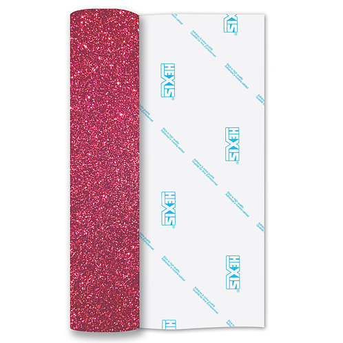 Pink Glitter Heat Transfer FleX 500mm Wide x 1m Long