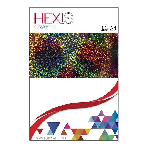 Round Rainbow Sequin Heat Transfer Flex Sheet