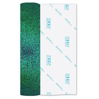 Emerald Glitter Heat Transfer Flex 305mm Wide x 500mm Long
