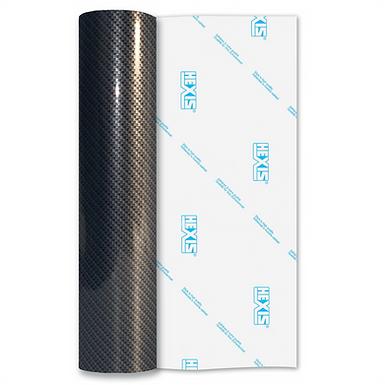 Flat High Gloss Carbon HEX'Press Self Adhesive Vinyl