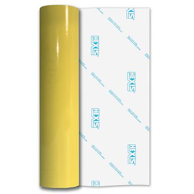 Lemon Yellow Premium Permanent Gloss Self Adhesive Vinyl