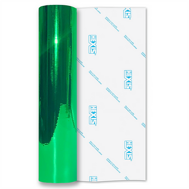 Fluorescent Green Mirror Chrome Self Adhesive Vinyl