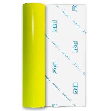 Neon Yellow Gloss Self Adhesive Vinyl