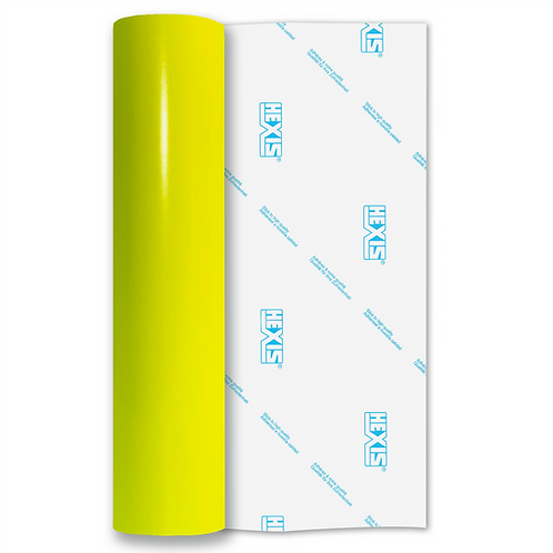 Neon Yellow Red Gloss Self Adhesive Vinyl