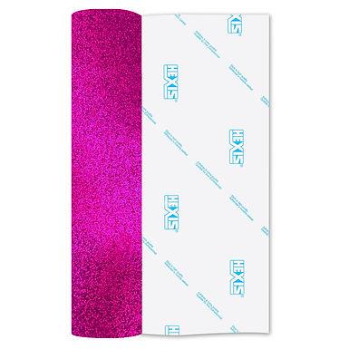 Neon Fuschia Glitter Heat Transfer Flex 305mm Wide x 500mm Long