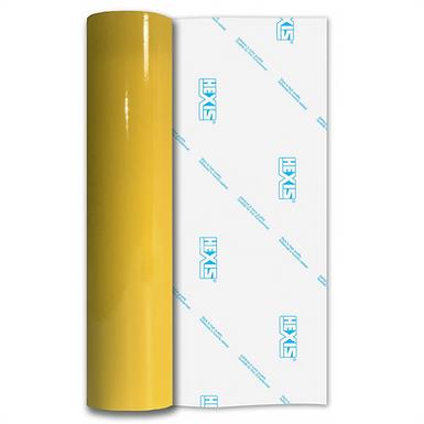 Buttercup Yellow PVC FREE Permanent Gloss Self Adhesive Vinyl