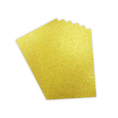 A4 Double Sided Glitter Card Gold