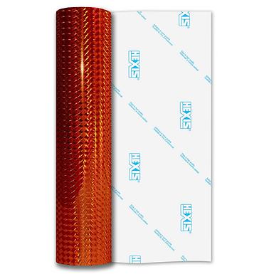 Orange Mosaic Gloss Self Adhesive Vinyl