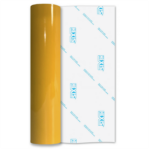 Mustard Yellow Premium Permanent Gloss Self Adhesive Vinyl