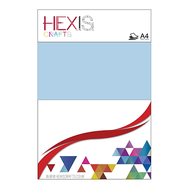 Powder Blue Heat Transfer Flex Sheet
