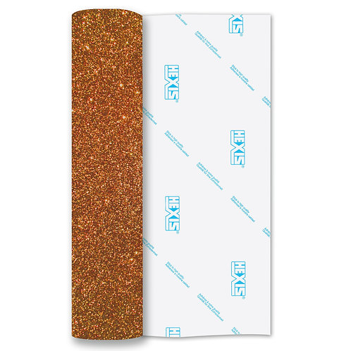 Rose Gold Glitter Heat Transfer Flex 500mm Wide x 1m Long